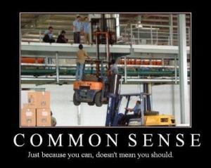 common sense..
